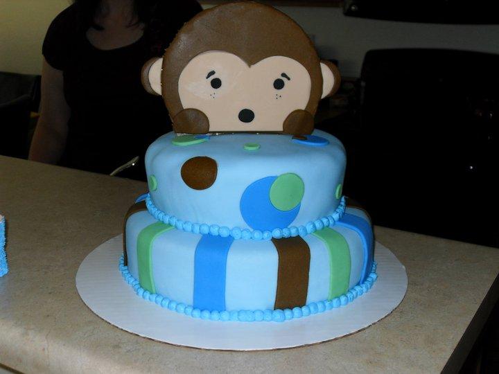 Monkey Baby Shower Cake Lovebugs Edible Designs
