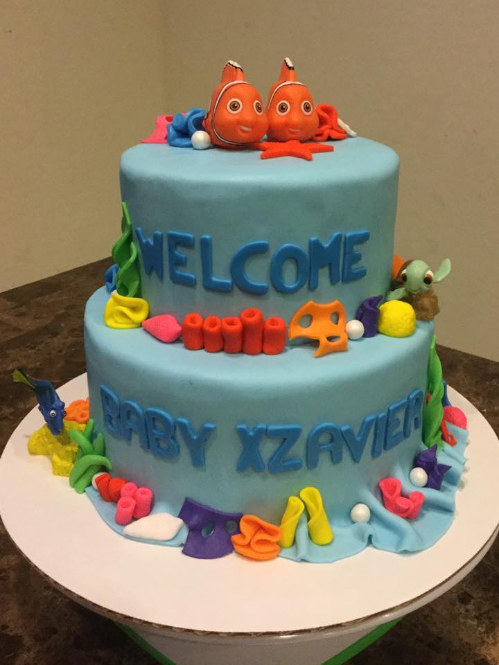 Finding Nemo Baby Shower Cake Lovebugs Edible Designs