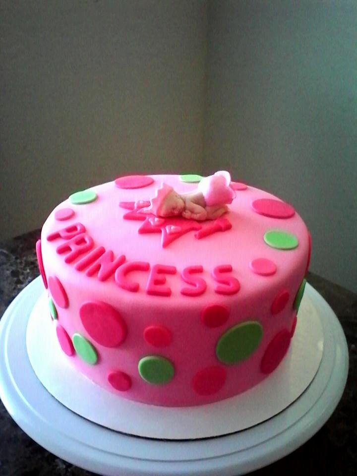 Pink Princess Baby Shower Cake