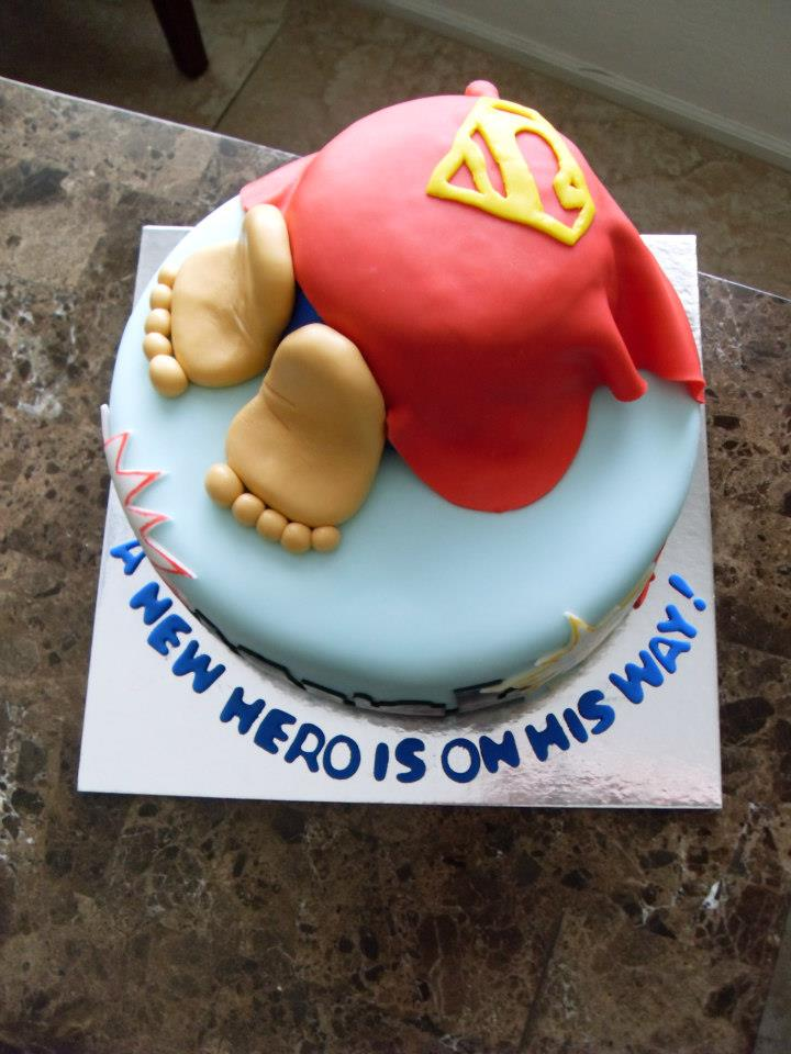 Baby Shower Cake Superman 1