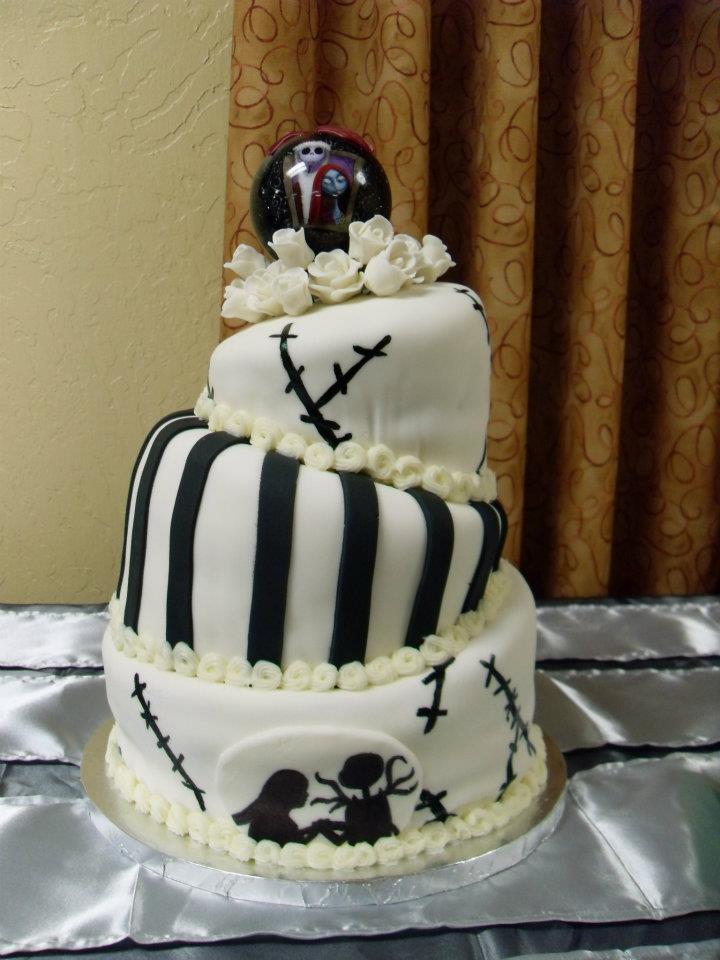 Nightmare before christmas wedding cake lovebugs edible designs nightmare before christmas wedding cake junglespirit Choice Image